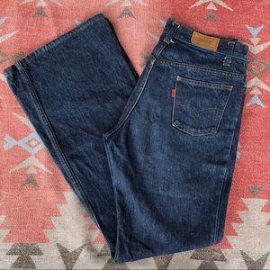 Vintage 1970's Levi's Orange Tab Flare Jeans